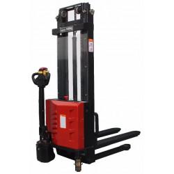 Empilhador elétrico altura de preço barato 2500 mm. carga 1000 e 1500 Kg. Capacidade do empilhador carga 1000 e 1500 Kg. Elevaçã