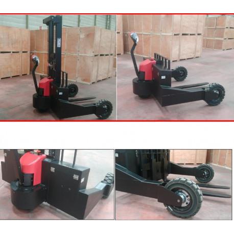 Empilhador off-road elétrico preço barato. Capacidade de carga do empilhador 1500 Kg. Elevação 1600